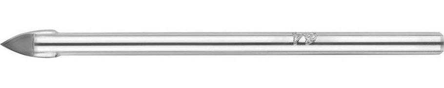 Сверло по стеклу и кафелю URAGAN 4 мм, 2-х резцовый, хвостовик цилиндрический (29830-04), фото 2
