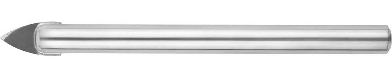 Сверло по стеклу и кафелю URAGAN 6 мм, 2-х резцовый, хвостовик цилиндрический (29830-06)