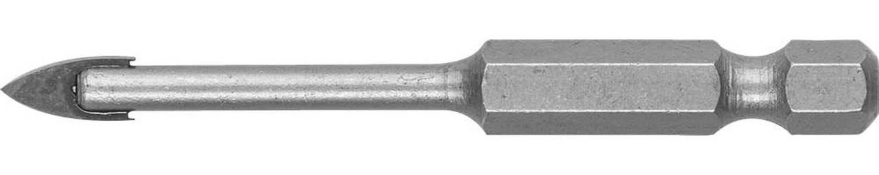 Сверло по стеклу и кафелю ЗУБР 5 мм, 2-х резцовый, шестигранный хвостовик (29840-05)