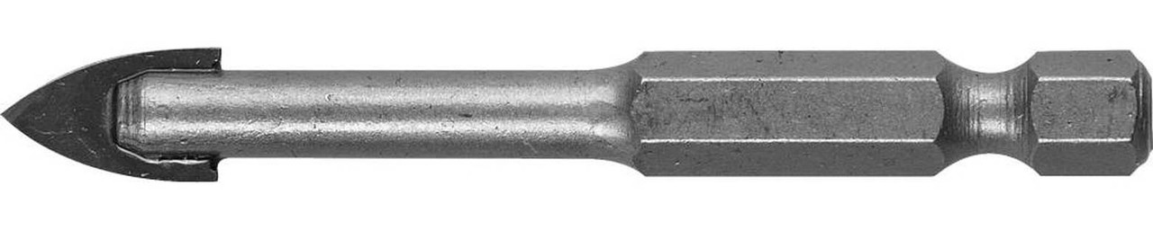 Сверло по стеклу и кафелю ЗУБР 10 мм, 2-х резцовый, шестигранный хвостовик (29840-10)