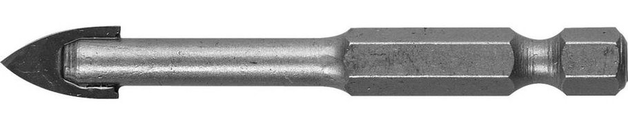 Сверло по стеклу и кафелю ЗУБР 10 мм, 2-х резцовый, шестигранный хвостовик (29840-10), фото 2