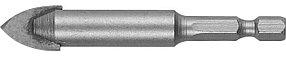 Сверло по стеклу и кафелю ЗУБР 12 мм, 2-х резцовый, шестигранный хвостовик (29840-12)