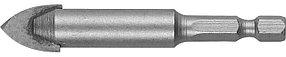 Сверло по стеклу и кафелю ЗУБР 14 мм, 2-х резцовый, шестигранный хвостовик (29840-14)
