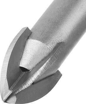 Сверло по стеклу и кафелю ЗУБР 10 мм, 4-х резцовый, длина 90 мм, шестигранный хвостовик (29845-10_z01), фото 2