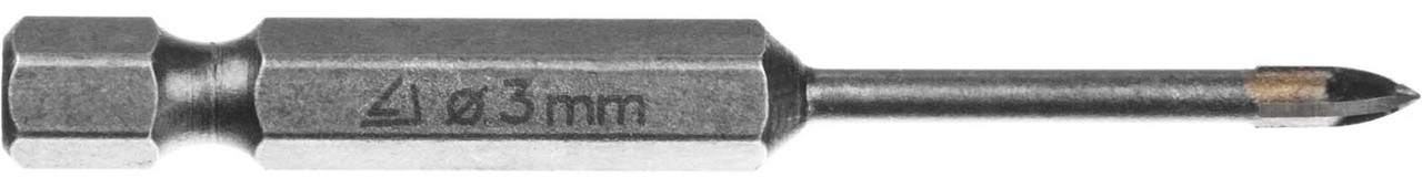 Сверло по стеклу и кафелю STAYER 3 мм, 4-х резцовый, шестигранный хвостовик (2985-03_z01)