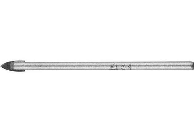 Сверло по стеклу и кафелю STAYER 4 мм, 2-х резцовый хвостовик цилиндрический (2986-04), фото 2