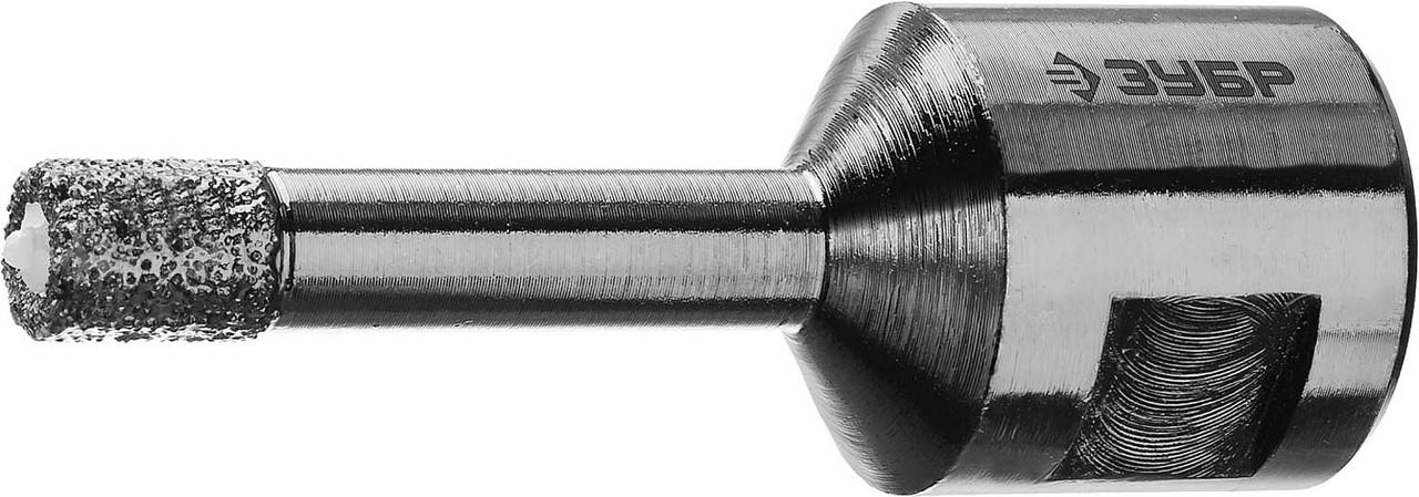 """Коронка универсальная ЗУБР 6 мм, ВВС, М14, алмазная, серия """"Профессионал"""" (29865-06-M14)"""