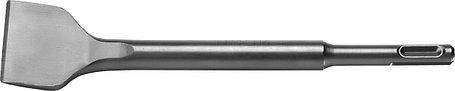 Зубило плоское изогнутое СИБИН 40 x 200 мм, SDS-Plus (29244-40), фото 2