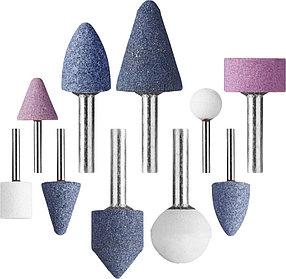 Набор абразивных мини-шарошек насадок STAYER 10 шт., хвостовик Ø 3,2/6 мм (2989-H10)