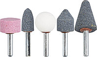 Набор абразивных мини-шарошек насадок STAYER 5 шт., хвостовик Ø 6 мм (2990-H5)