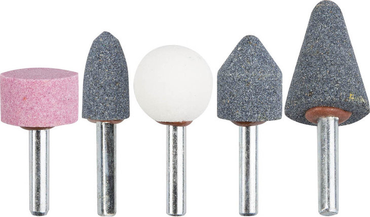 Набор абразивных мини-шарошек насадок STAYER 5 шт., хвостовик Ø 6 мм (2990-H5), фото 2