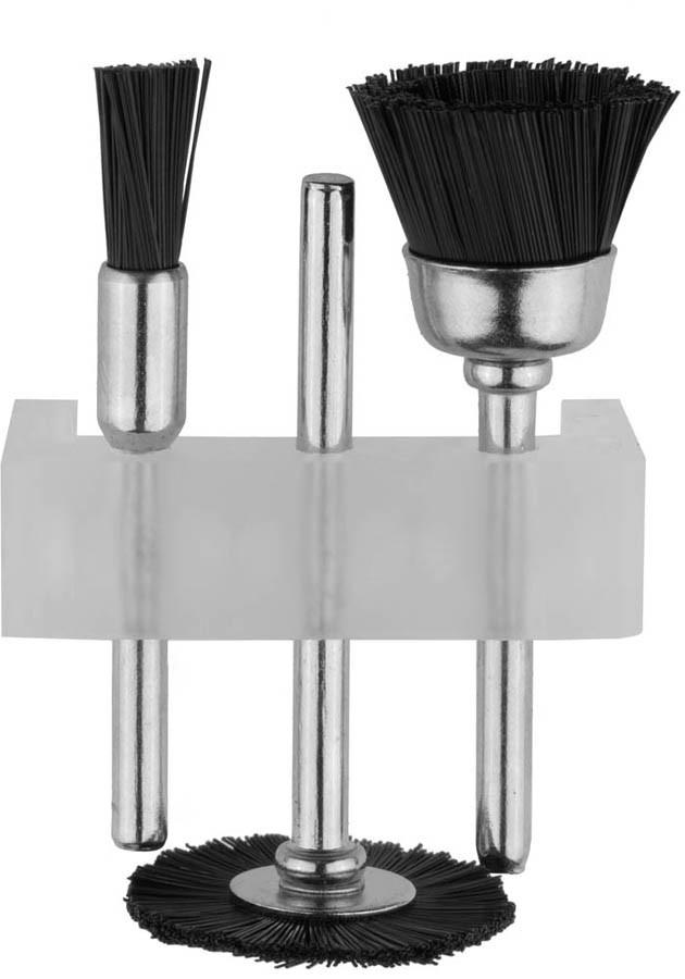 Щетка нейлоновая для чистки и полирования STAYER 3 шт. (29914-H3)