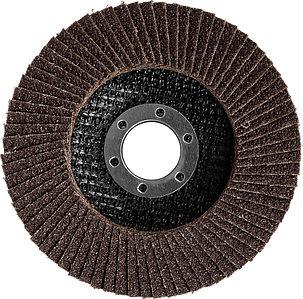 Круг шлифовальный лепестковый ЗУБР электрокорунд нормальный, P80, 125х22.2 мм (36591-125-80), фото 2
