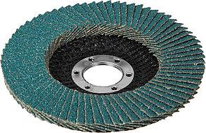 Круг лепестковый торцевой циркониевый ЗУБР 115 мм, P80 (36595-115-80), фото 2