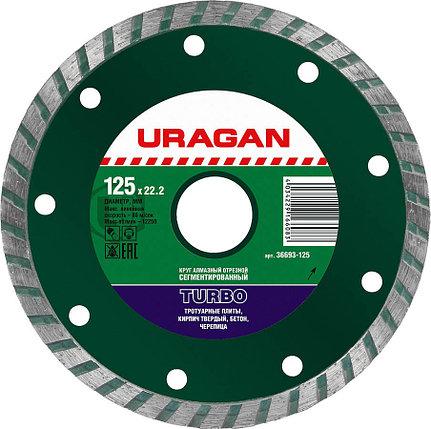 Круг отрезной для УШМ, URAGAN Ø 125х22.2 мм, алмазный, сегментированный (36693-125), фото 2