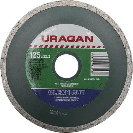 Круг отрезной для УШМ, URAGAN Ø 125х22.2 мм, алмазный, сплошной (36695-125), фото 2
