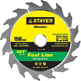 Диск пильный по дереву STAYER Ø 150 x 20 мм, 16T (3680-150-20-16)