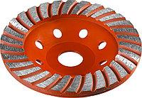 Чашка шлифовальная по бетону ЗУБР 125 мм, L- 22.2 мм, алмазная, сегментированная (33375-125)