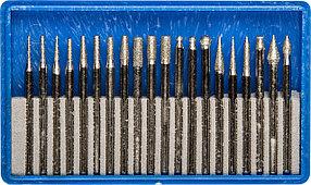 """Набор мини-насадок ЗУБР 20 шт., хвостовик Ø 3 мм, серия """"Профессионал"""" (33383-H20)"""