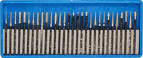 """Набор мини-насадок ЗУБР 30 шт., хвостовик Ø 3 мм, серия """"Профессионал"""" (33383-H30)"""