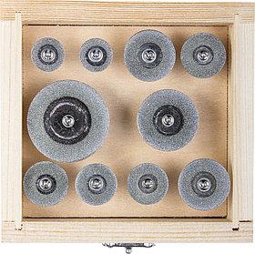 Набор алмазных отрезных мини-кругов ЗУБР 10 шт., хвостовик Ø 3 мм (33385-H10)