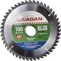 Диск пильный по дереву URAGAN Ø 190 x 30 мм, 48T (36802-190-30-48)