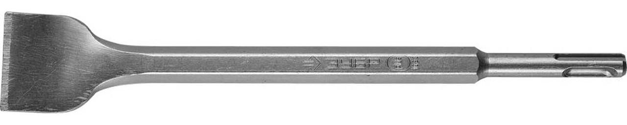 """Зубило плоское изогнутое ЗУБР 40 x 250 мм, SDS-Plus, серия """"Профессионал"""" (29364-40-250)"""