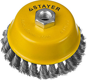 Щетка чашечная для УШМ STAYER Ø 120 мм (35128-120)