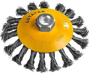 """Щетка коническая для УШМ STAYER Ø 115 мм, серия """"Профессионал"""" (35135-115)"""