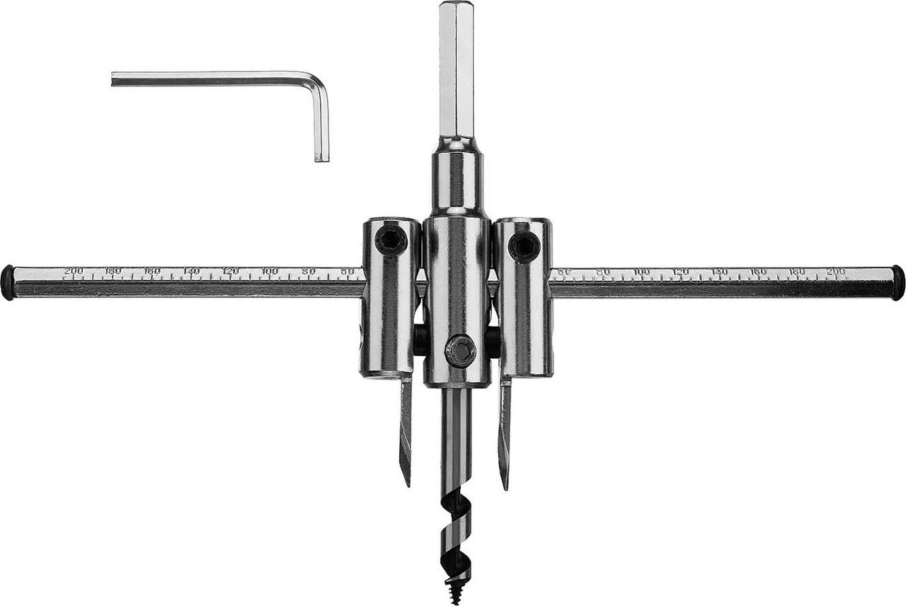 Сверло по дереву регулируемое ЗУБР 30-200 мм, глубина реза 30 мм (29440-200)