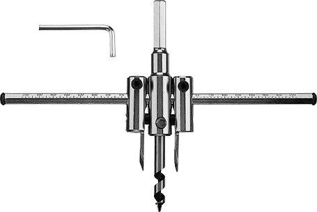 Сверло по дереву регулируемое ЗУБР 30-200 мм, глубина реза 30 мм (29440-200), фото 2