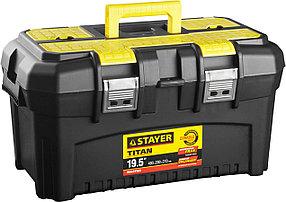"""Ящик для инструментов TITAN-19, STAYER 490 x 262 x 250 мм (19""""), пластиковый (38016-19)"""