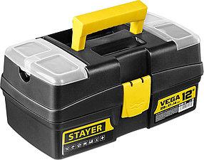"""Ящик для инструментов VEGA-12, STAYER 290 x 170 x 140 мм (12""""), пластиковый (38105-13_z03)"""