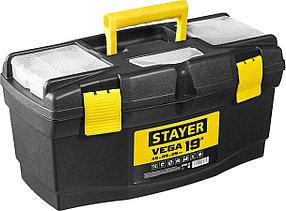 "Ящик для инструментов VEGA-19, STAYER 490 х 250 х 250 мм (19""), пластиковый (38105-18_z03)"