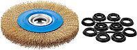 Щетка дисковая для точильно-шлифовального станка ЗУБР Ø 200 мм (35186-200_z01)