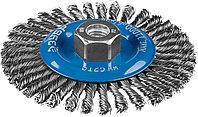 """Щетка дисковая для УШМ, ЗУБР Ø 125 мм, проволока 0.5 мм, серия """"Профессионал"""" (35192-125_z02)"""