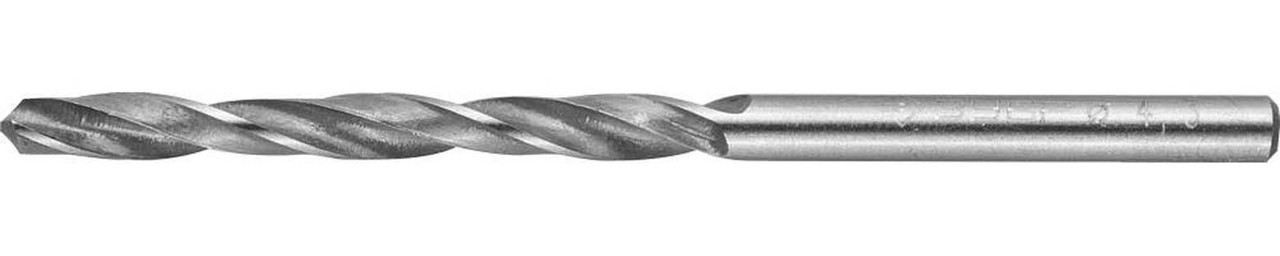 Сверло по металлу ЗУБР Ø 4.3 x 80 мм, Р6М5, класс В (4-29621-080-4.3)