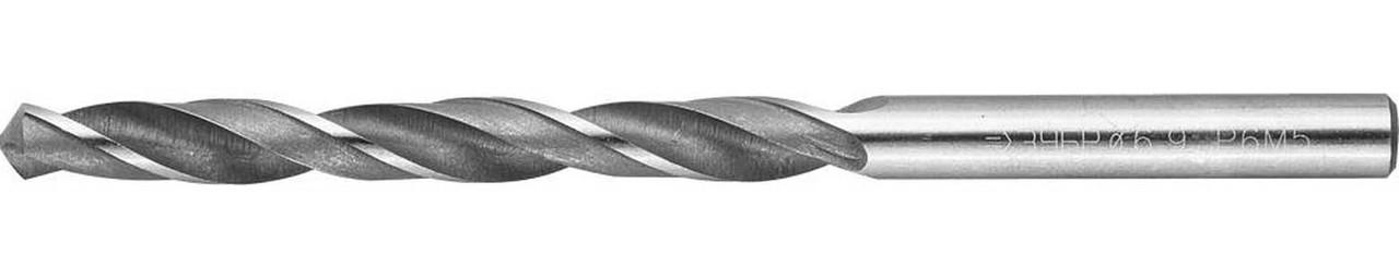 Сверло по металлу ЗУБР Ø 6.9 x 109 мм, Р6М5, класс В (4-29621-109-6.9)