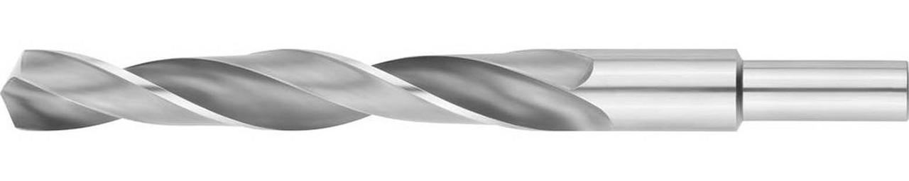 Сверло по металлу ЗУБР Ø 17.5 x 191 мм, Р6М5, класс В, хвостовик 13 мм (4-29621-191-17.5)