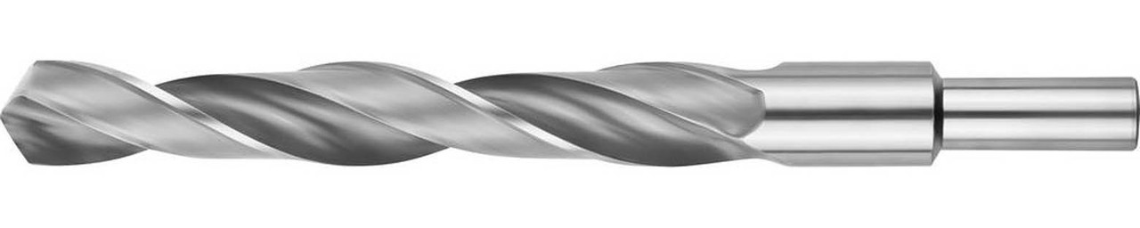 Сверло по металлу ЗУБР Ø 18.5 x 198 мм, Р6М5, класс В, хвостовик 13 мм (4-29621-198-18.5)