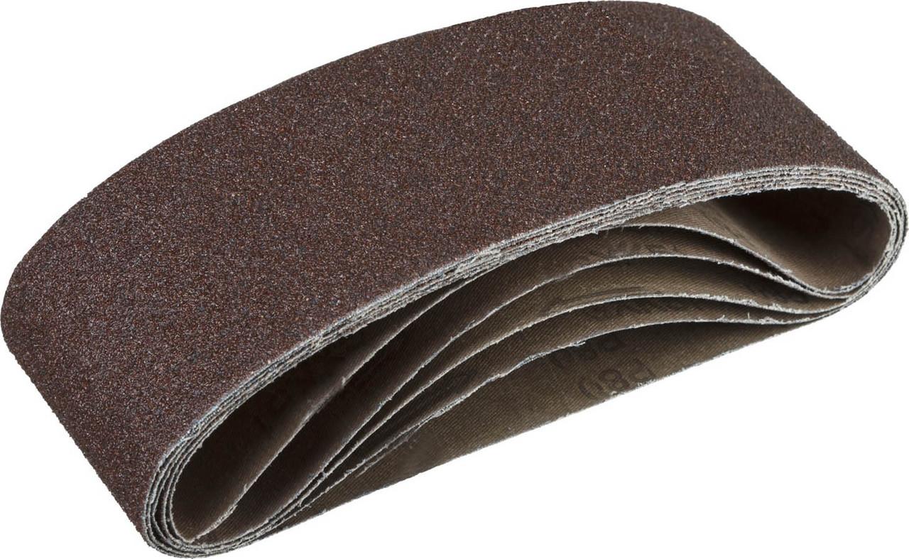 Лента шлифовальная бесконечная для ЛШМ, ЗУБР P80, 75х457 мм, 5 шт., на тканевой основе (35341-080)
