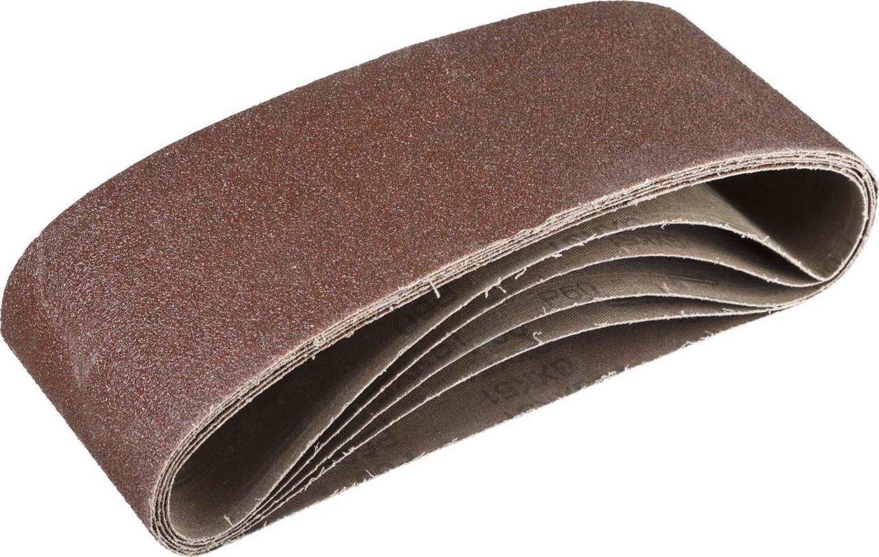 Лента шлифовальная бесконечная для ЛШМ, ЗУБР P60, 100х610 мм, 5 шт., на тканевой основе (35343-060)