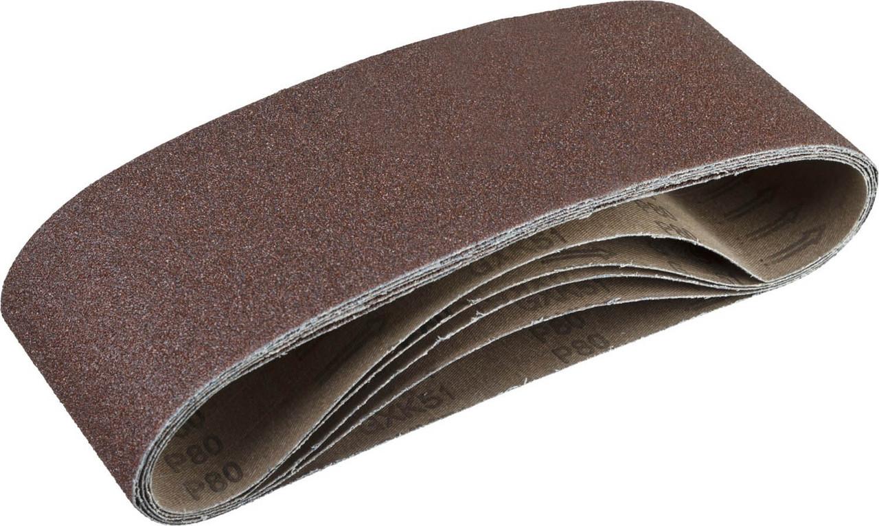 Лента шлифовальная бесконечная для ЛШМ, ЗУБР P80, 100х610 мм, 5 шт., на тканевой основе (35343-080)