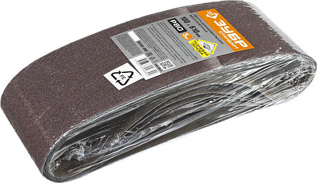 Лента шлифовальная бесконечная для ЛШМ, ЗУБР P80, 100х610 мм, 5 шт., на тканевой основе (35343-080), фото 2