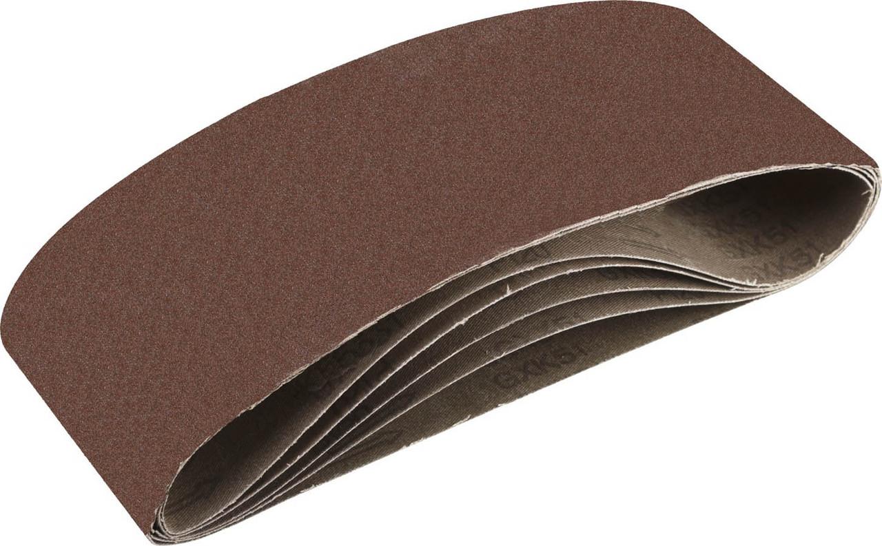 Лента шлифовальная бесконечная для ЛШМ, ЗУБР P120, 100х610 мм, 5 шт., на тканевой основе (35343-120)
