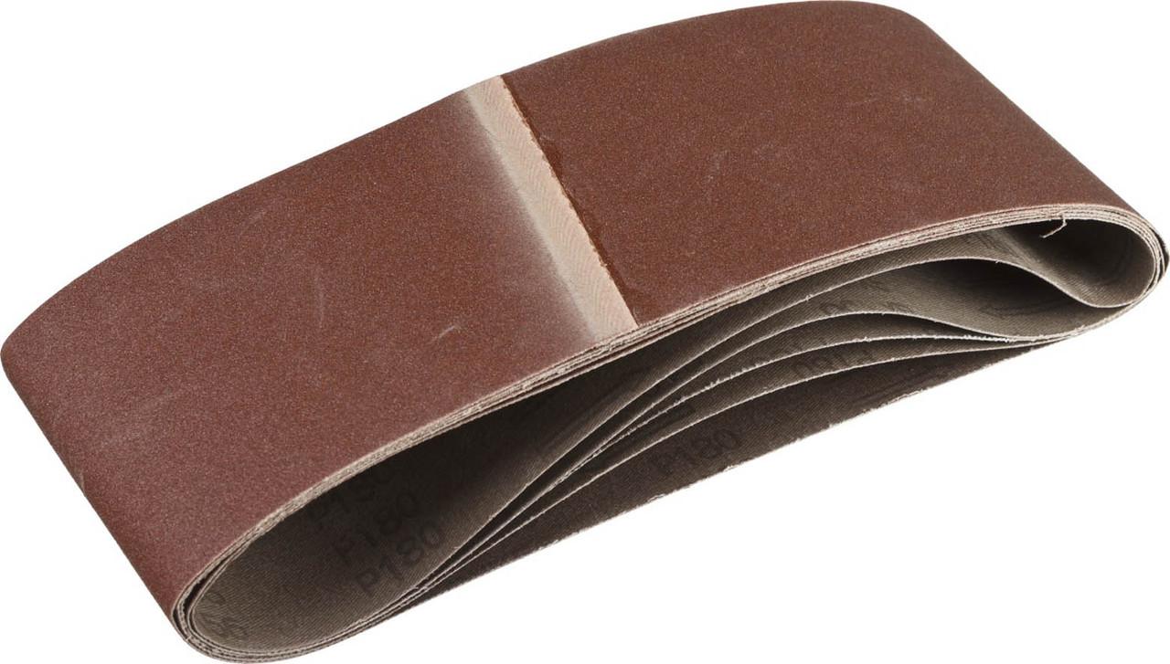 Лента шлифовальная бесконечная для ЛШМ, ЗУБР P180, 100х610 мм, 5 шт., на тканевой основе (35343-180)