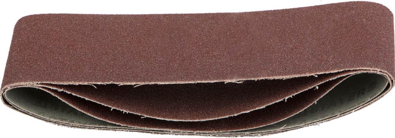 Лента шлифовальная STAYER P80, 75х457 мм, 3 шт., на тканевой основе, универс. бесконечная для ЛШМ (35441-080)