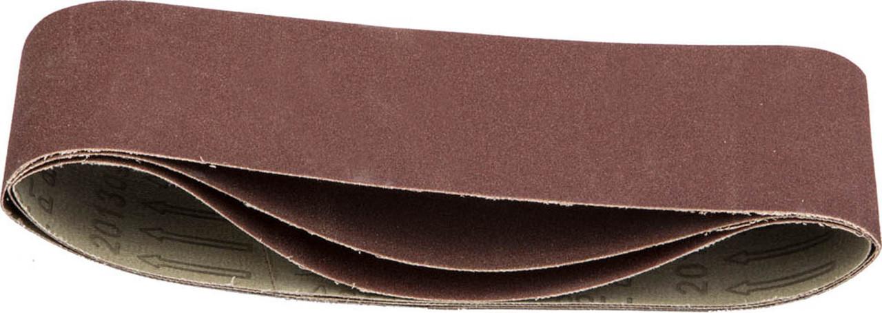 Лента шлифовальная STAYER P180, 75х457 мм, 3 шт., на тканевой основе, универс. бесконечная для ЛШМ (35441-180)
