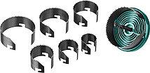 Пила наборная по дереву KRAFTOOL 25-32-38-45-50-56-62 мм, 7шт., сегментная (29580-H7-18), фото 2