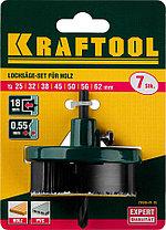 Пила наборная по дереву KRAFTOOL 25-32-38-45-50-56-62 мм, 7шт., сегментная (29580-H7-18), фото 3